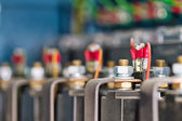 Wire, terminals, transistors and capacitors — Stock Photo