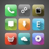 Nine vector icons — Stock Vector