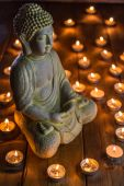Meditující buddha — Stock fotografie