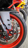 Ruote moto — Foto Stock