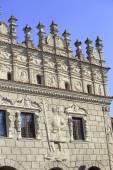 Facade of renaissance Tenement-house, Kazimierz Dolny on the Vistula, Poland — Stock Photo