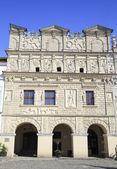 Renaissance Tenement-houses, under St. Nicholas, Kazimierz Dolny on the Vistula, Poland — Stock Photo