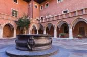 Courtyard of Jagiellonian University, Krakow, Poland — Stock Photo