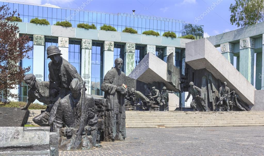 Monument to The Heroes of The Warsaw Uprising in 1944 Stock Image
