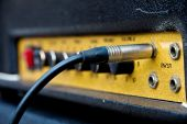 Close up image of guitar amplifier — Stockfoto
