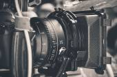 Professionele digitale video camera — Stockfoto