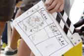 Behind the scene, film crew production set — Stock Photo