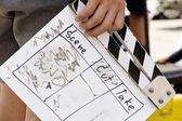 Behind the scene, film crew production set — Zdjęcie stockowe