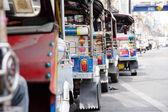 Tuk tuks taxi lined up — Stock Photo