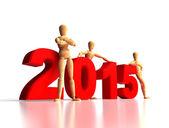 2015 New Years Team — Stock Photo