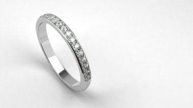 Diamond Wedding Ring — Stock Video