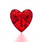 Heart Shaped Red Diamond  — Foto de Stock