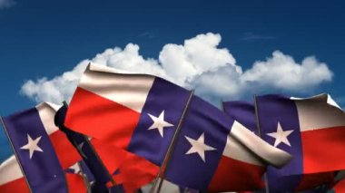 Waving Texas State Flags — Stock Video