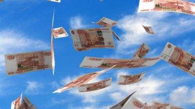 Falling Russian Ruble — Stock Video