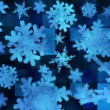 Broadcast Spinning Snow Flakes 03 — Stock Video #64437869