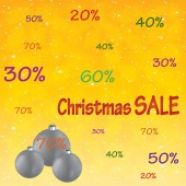 Christmas sale background . — Vettoriale Stock