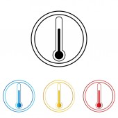 Medical thermometer web icon . — 图库矢量图片