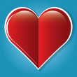 Red medical heart icon. — Stock Vector #63904161