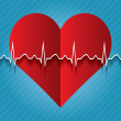 Red medical heart icon.vector . — Stock Vector #63904183
