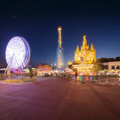 Amusement Park and Temple at Tibidabo — Stock Photo