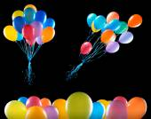 Flying balloons isolated — Stock Photo
