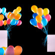 Holiday banners with colorful balloons — Stock Photo #54216955