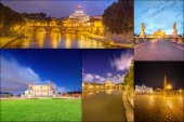 Photo collage from Rome, Italy — Stock Photo