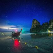 Night tropical landscape. Thailand — Стоковое фото