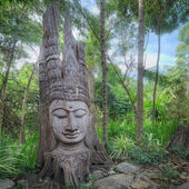 Old ancient buddha statue — Foto Stock