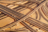 Highway road intersection in Downtown Burj Dubai. — Stock Photo
