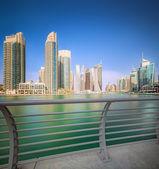 The beauty panorama of Dubai marina. UAE — Stock Photo