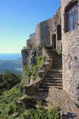 Socerb castle entrance staircase, Slovenia — Stock Photo