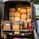 Van full of boxes — Stock Photo #52420029