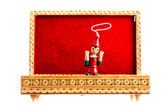 Pinocchio in the box — Stock Photo