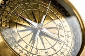 Golden compass — Stock Photo