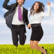 Jumping businessperson — Stock Photo #54745511