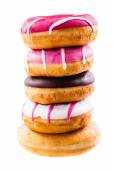 Piled doughnuts — Stock Photo