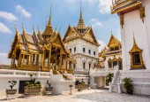 Phra Thinang Dusit Maha Prasat temples — Stock Photo