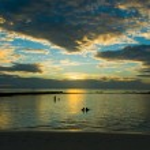 Sunset on the beach — Stock Photo #57962241