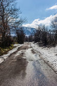 Kış yol — Stok fotoğraf