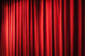 Heavy red curtains — Stock Photo