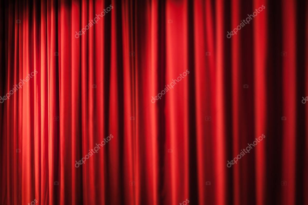pesadas cortinas rojas u foto de stock