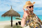Young guy on vacation — Stock Photo