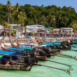 Longtail boats in tropical paradise — Stock Photo #64124185