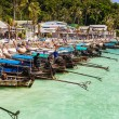 Longtail boats in tropical island — Stock Photo #64484053