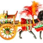 Sicilian folkloristic horse cart — Stock Photo #67551637