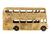 Retro British bus toy — Stock Photo