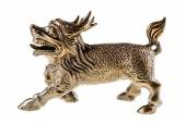 Bronze chinese dragon — Stock Photo