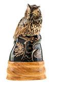 Wooden Owl — Stock Photo
