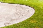 Golf Sand trap — Stock Photo